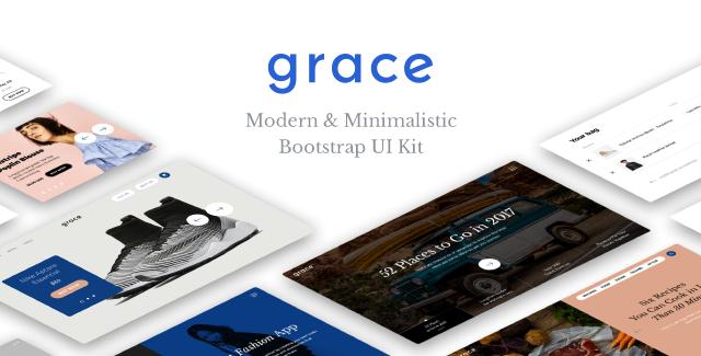 Grace - Modern & Minimalistic UI Kit