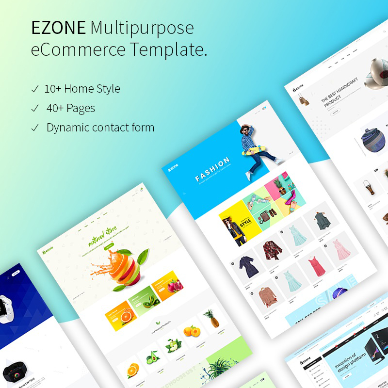 Ezone - eCommerce Website Template