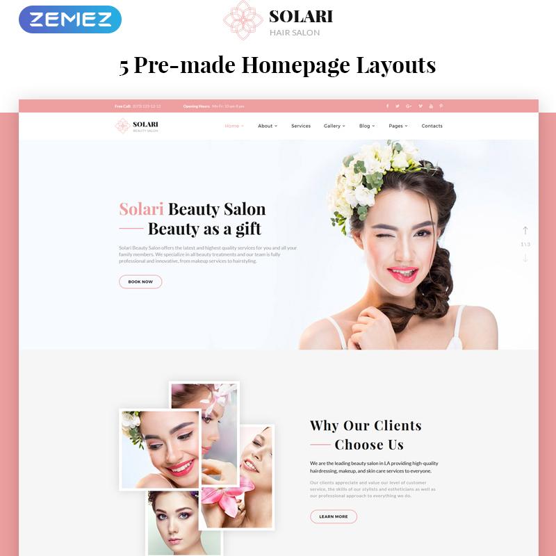Beauty Salon HTML5 Template