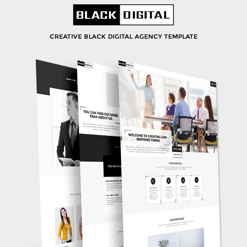 Black Digital - Creative Multipurpose Agency Website Template