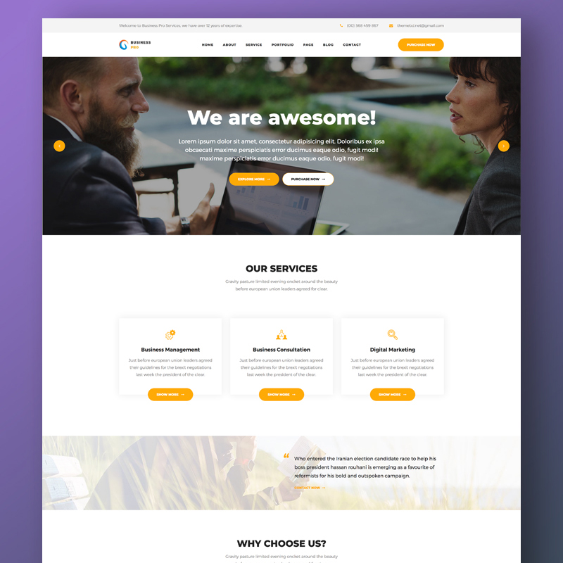 Business Pro - Business, Consultation & Finance Website Template