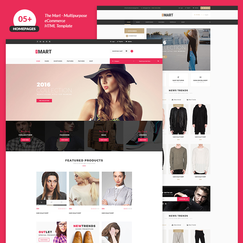 The Mart Multipurpose e-commerce Website Template