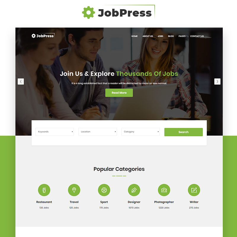 JobPress - Jobs Directory & Listing Website Template