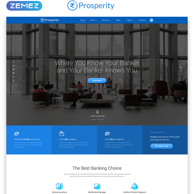 Banking Multipage HTML5 Website Template