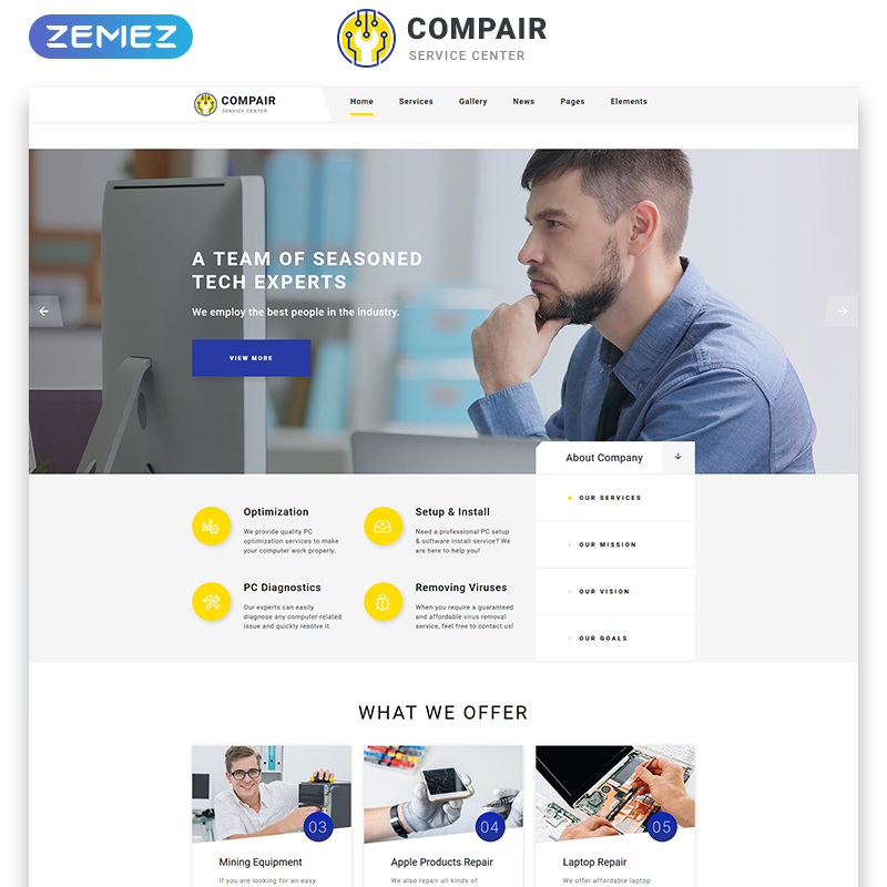 Computer Service Center Multipage HTML5 Template