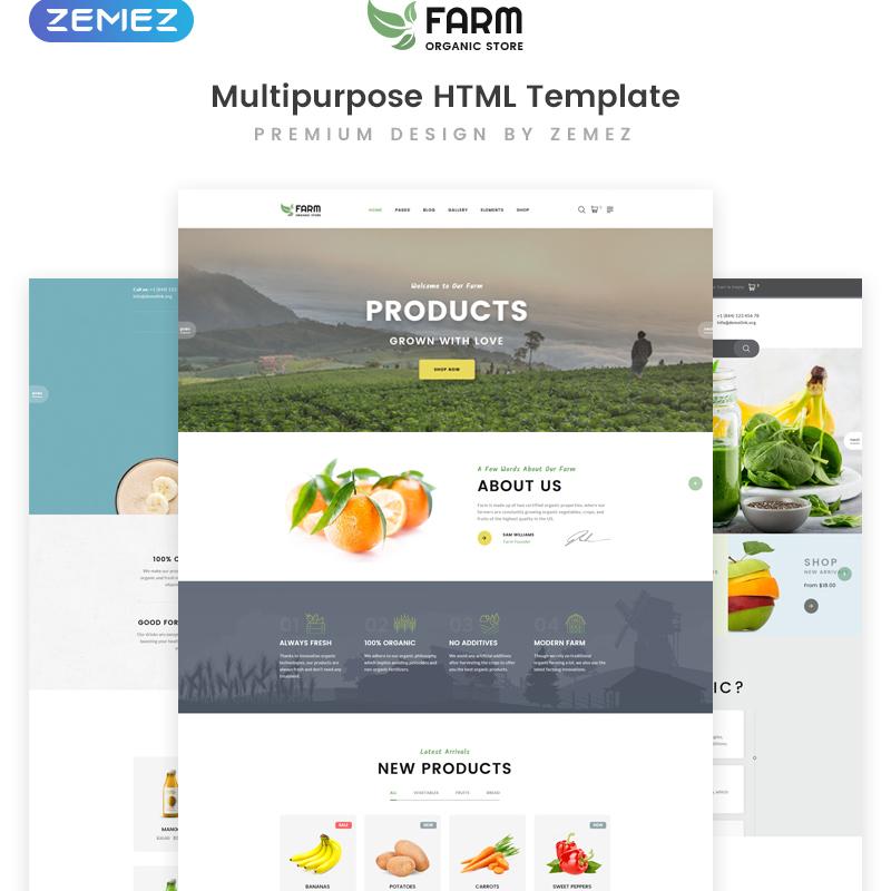 Organic Farm Multipurpose HTML template