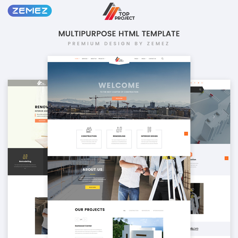Construction Company Multipurpose HTML Template