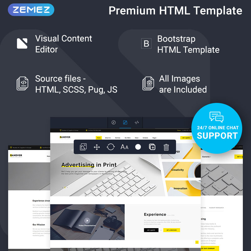 Advertising Multipage HTML Theme