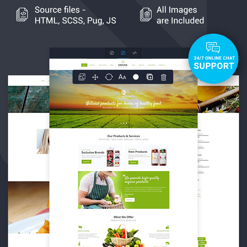Healthy Food Multipage HTML Template