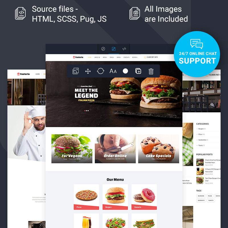 Food Restaurant Ready-to-Use Website Template