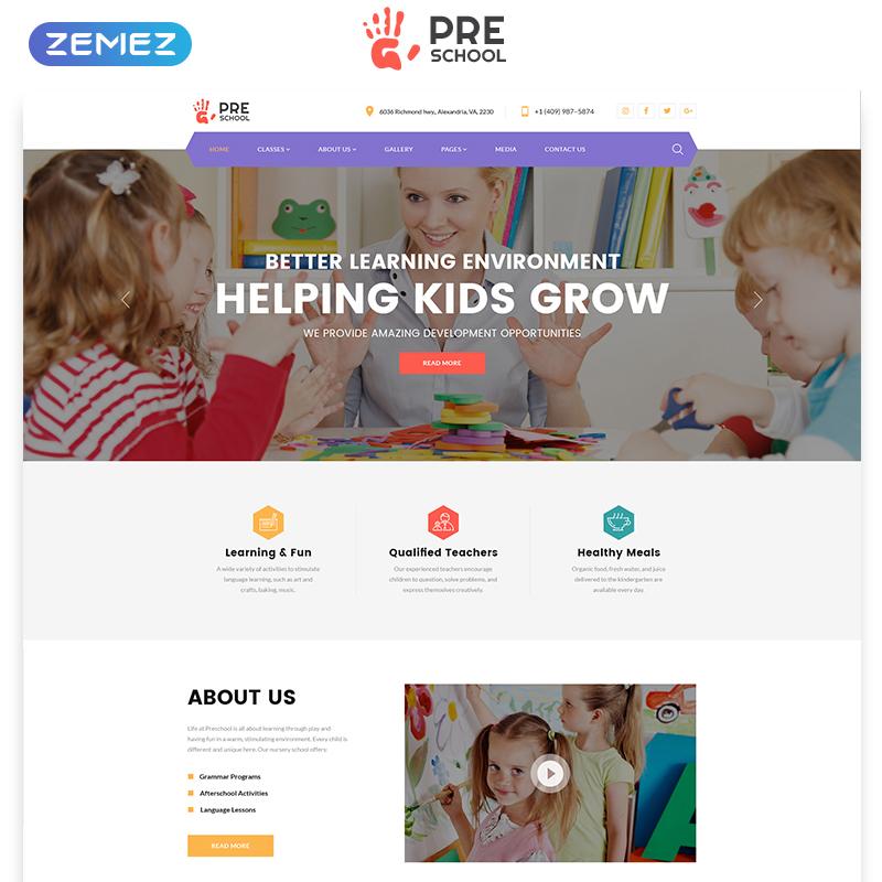 Preschool HTML Template