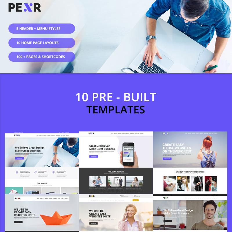 Pexr - Responsive Multipurpose HTML5 Template Website Template