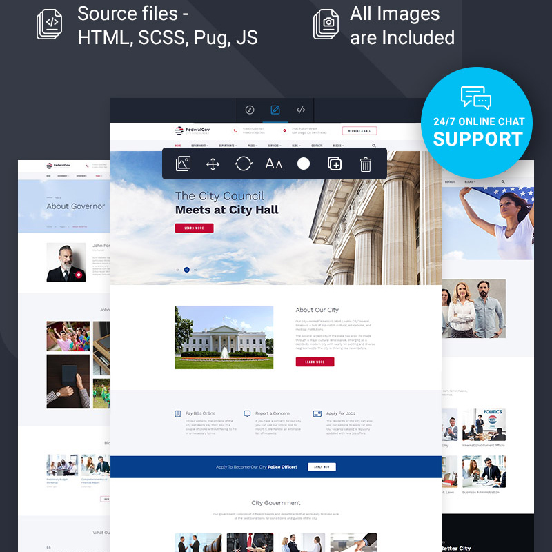 FederalGov Multipage Page HTML Template