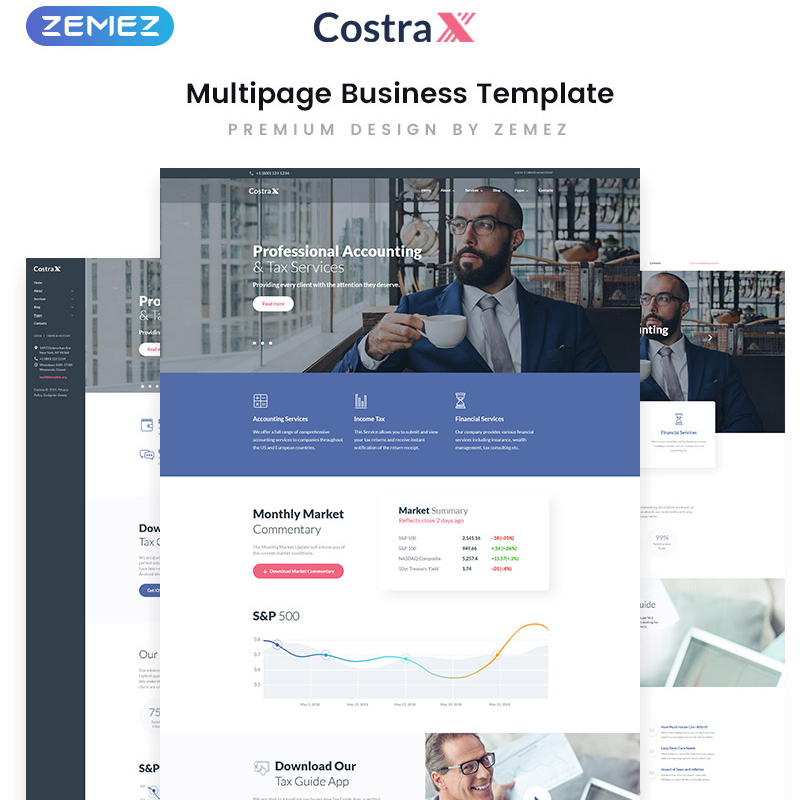 Accounting Services Multipage HTML5 Template
