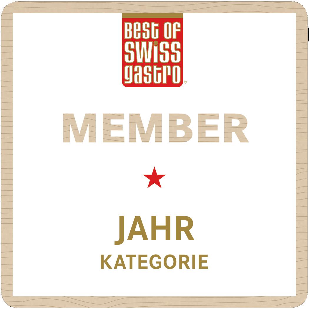 Best of Swiss Gastro Zertifikat für Member