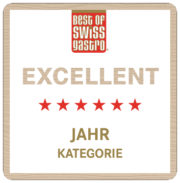 "Best of Swiss Gastro Zertifikat als ""Excellent"""