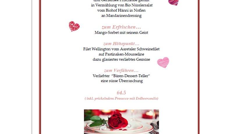Valentinsmenu 2015