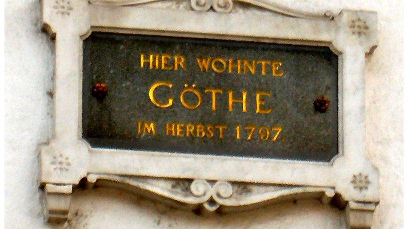 Hinweistafel Goethe