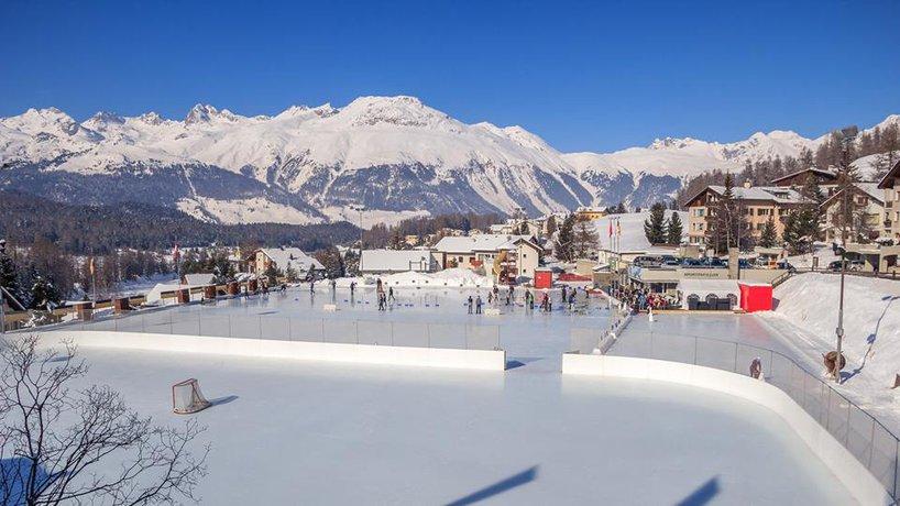 Sportplatz Roseg Winter