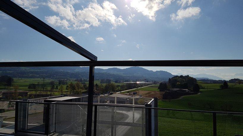 Panorama Restaurant - Aussicht Dachterrasse Richtung