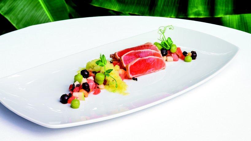 Exotische Vorspeise im Restaurant MAHOI