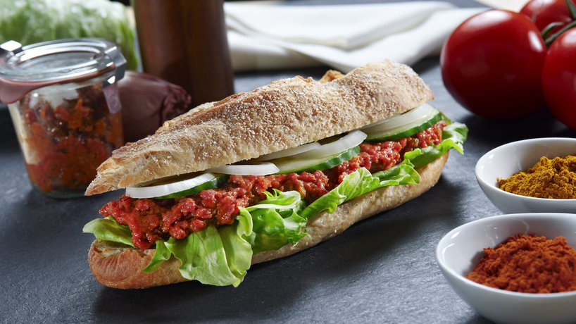 Sandwich mit Rindstatar