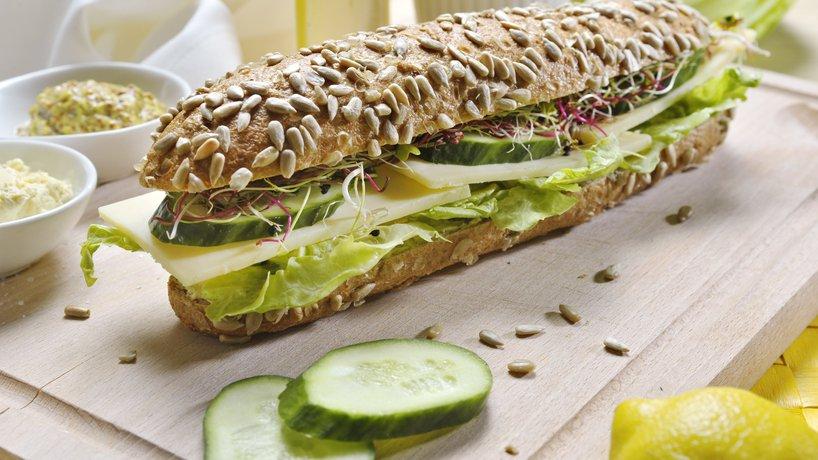 Sandwich mit Gruyère