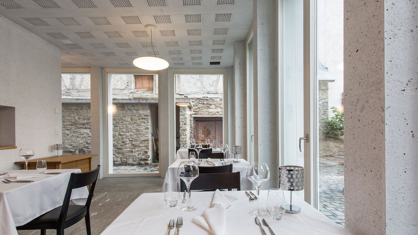 Das Restaurant im Neubau