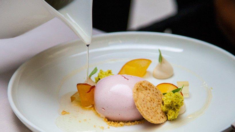 Pfirsich-Dessert