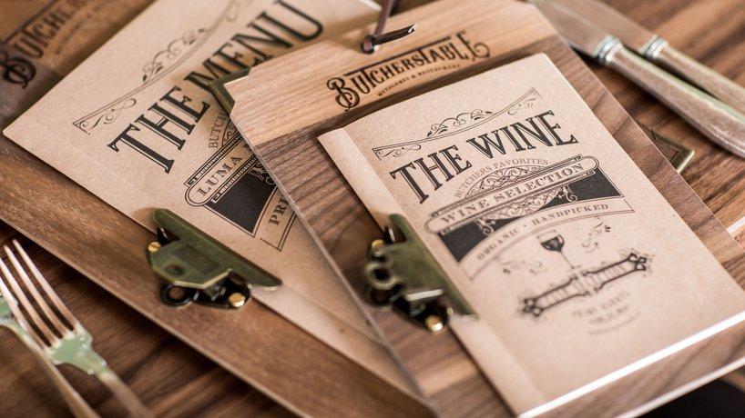 BT: Menu- und Weinkarte