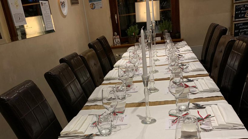 """gedeckter Tisch (Themenabend""""Piemont"""")"""