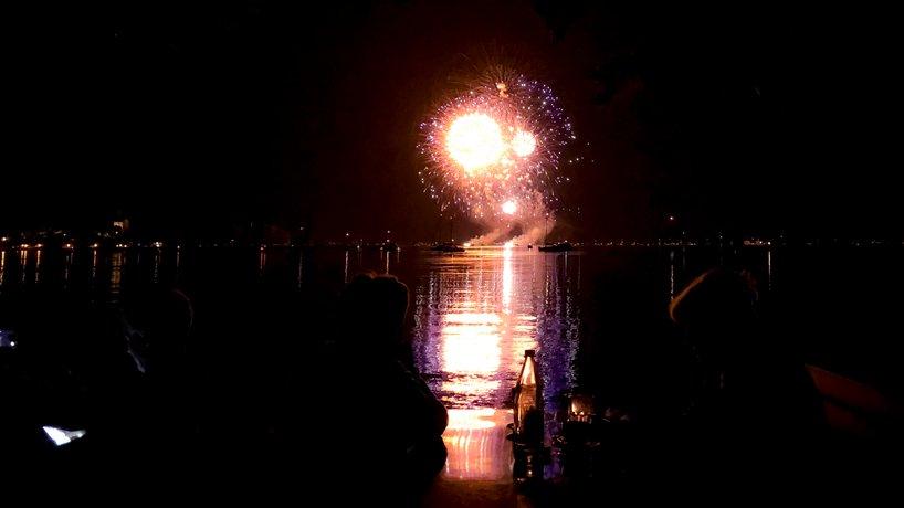 Terrasse Feuerwerk Seenachtsfest