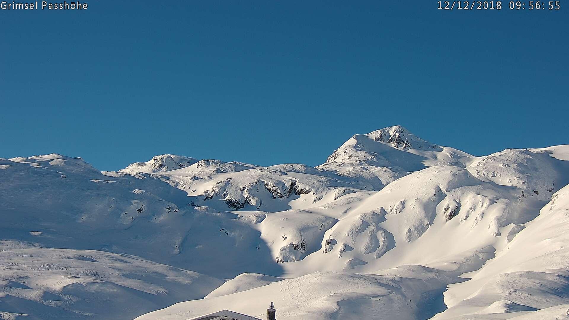 Winterspass auf dem Grimselpass