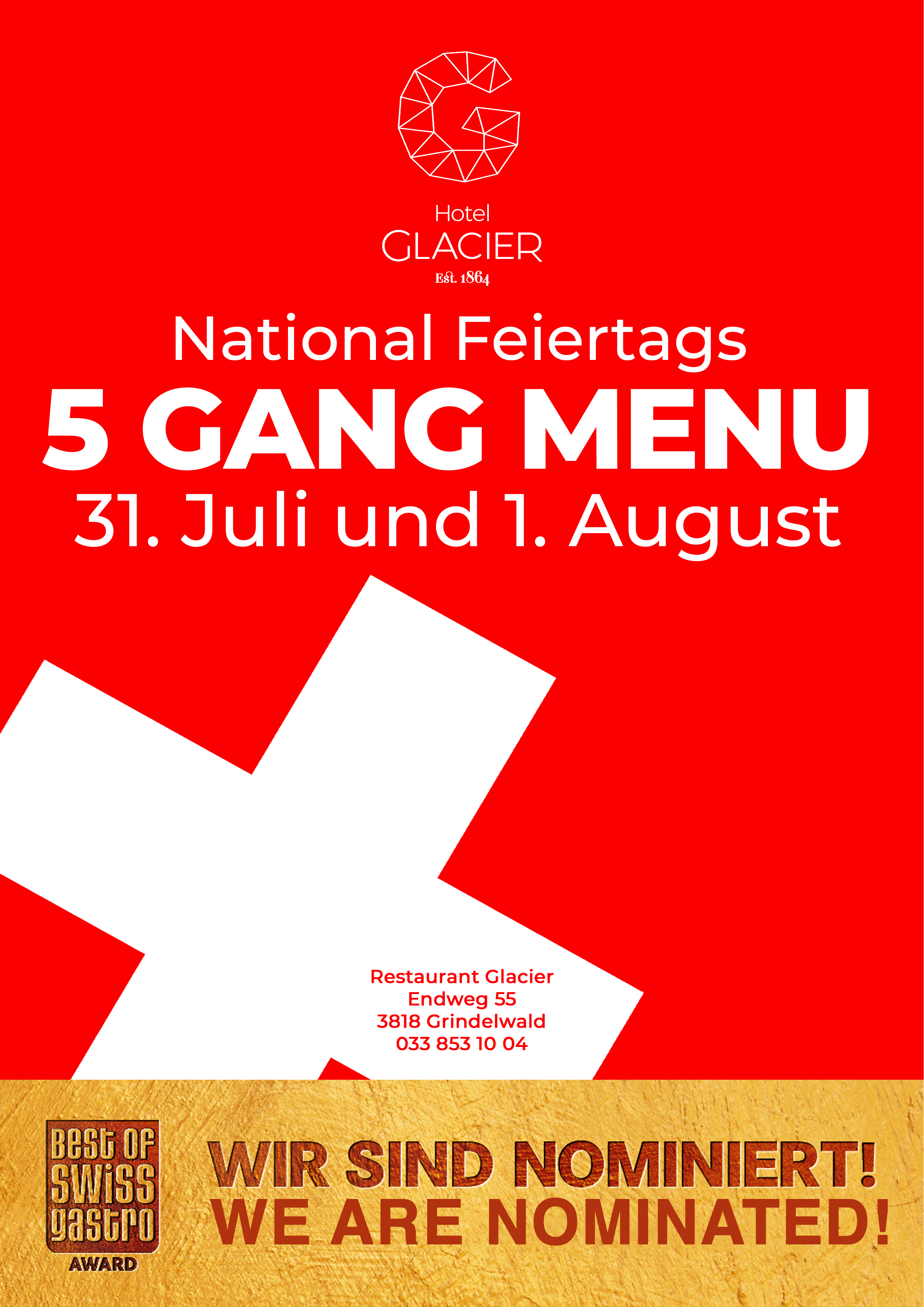National Feiertags 5 Gang Menü