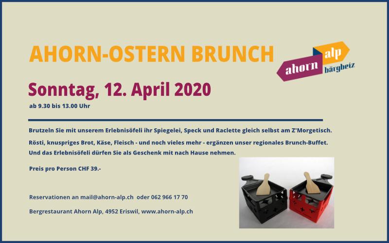 Grosser Ahorn-Ostern Brunch