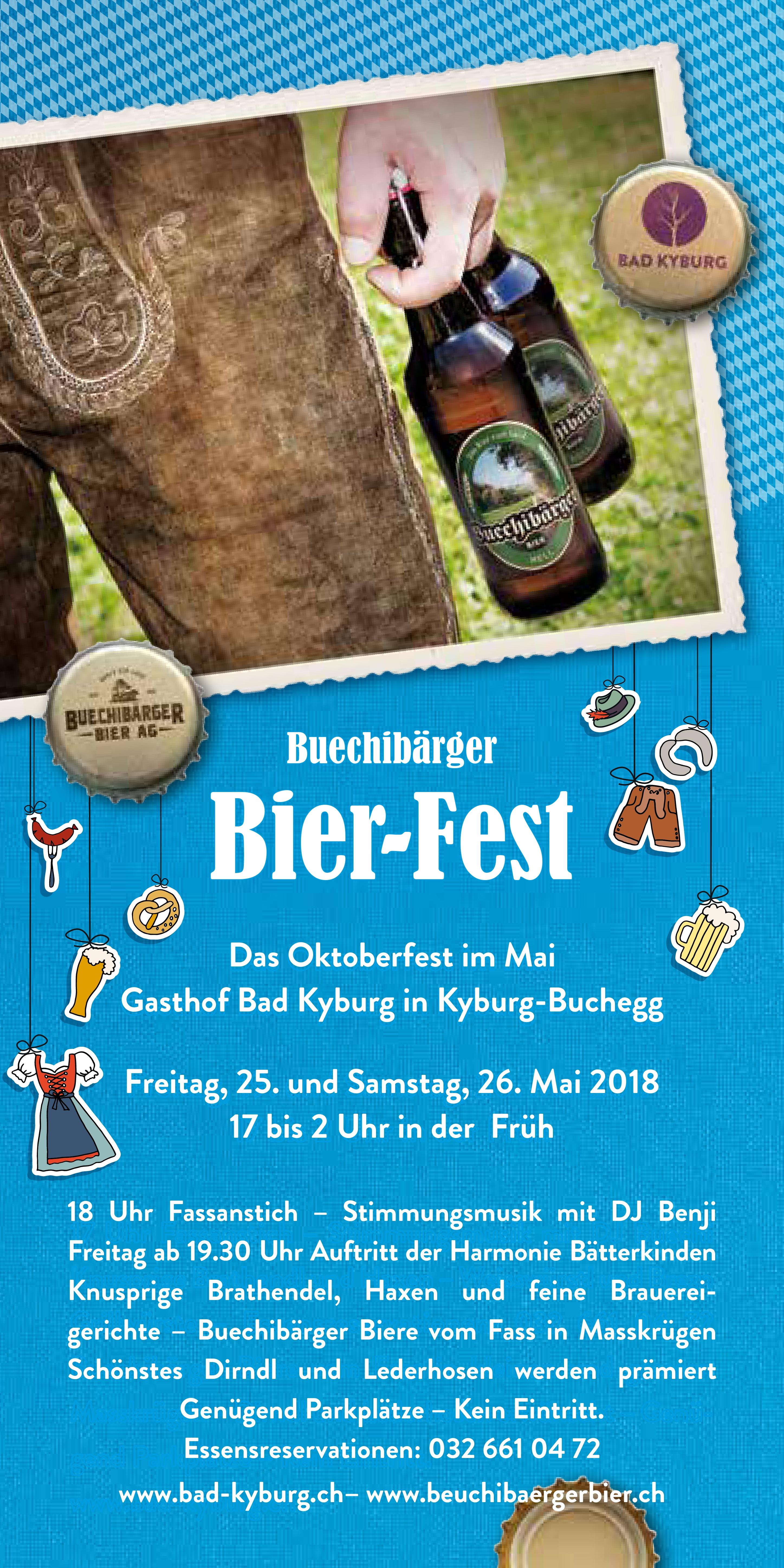 Buechibärger Bier-Fest 25.& 26.05.2018