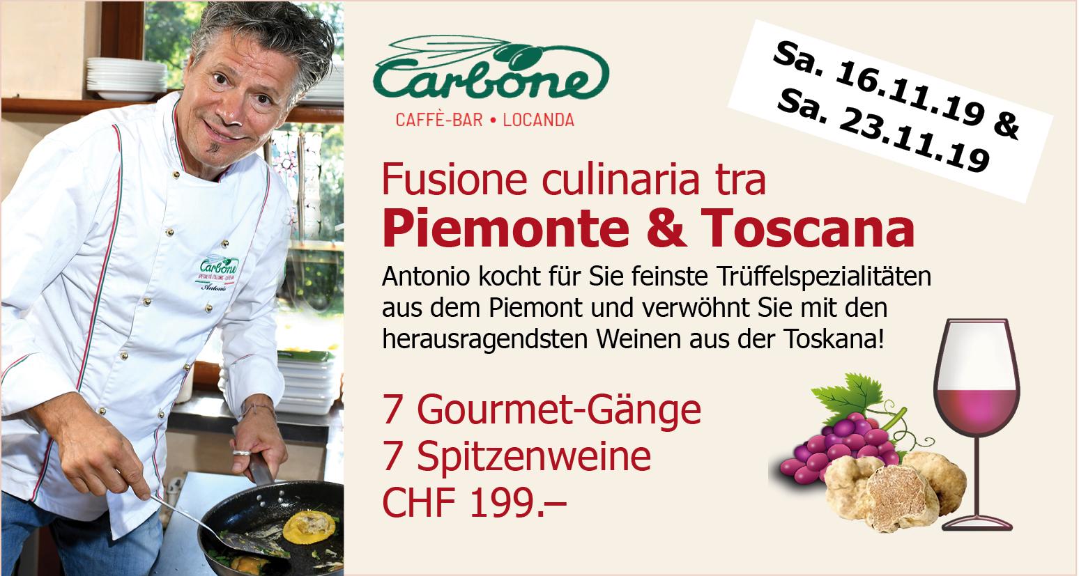Fusione Piemonte – Toscana - Gourmetevent mit Antonio Carbone