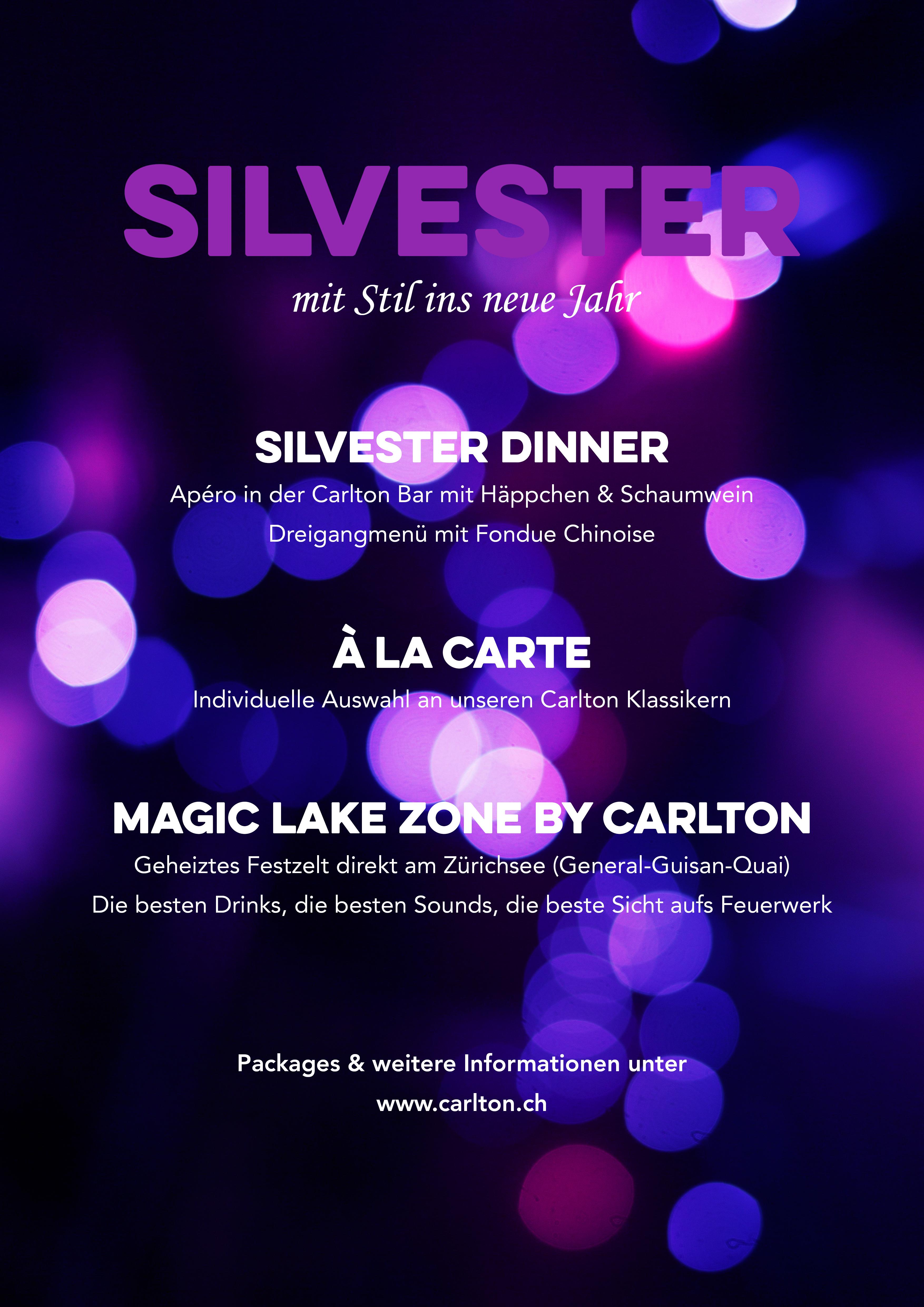 Silvester Dinner im Carlton
