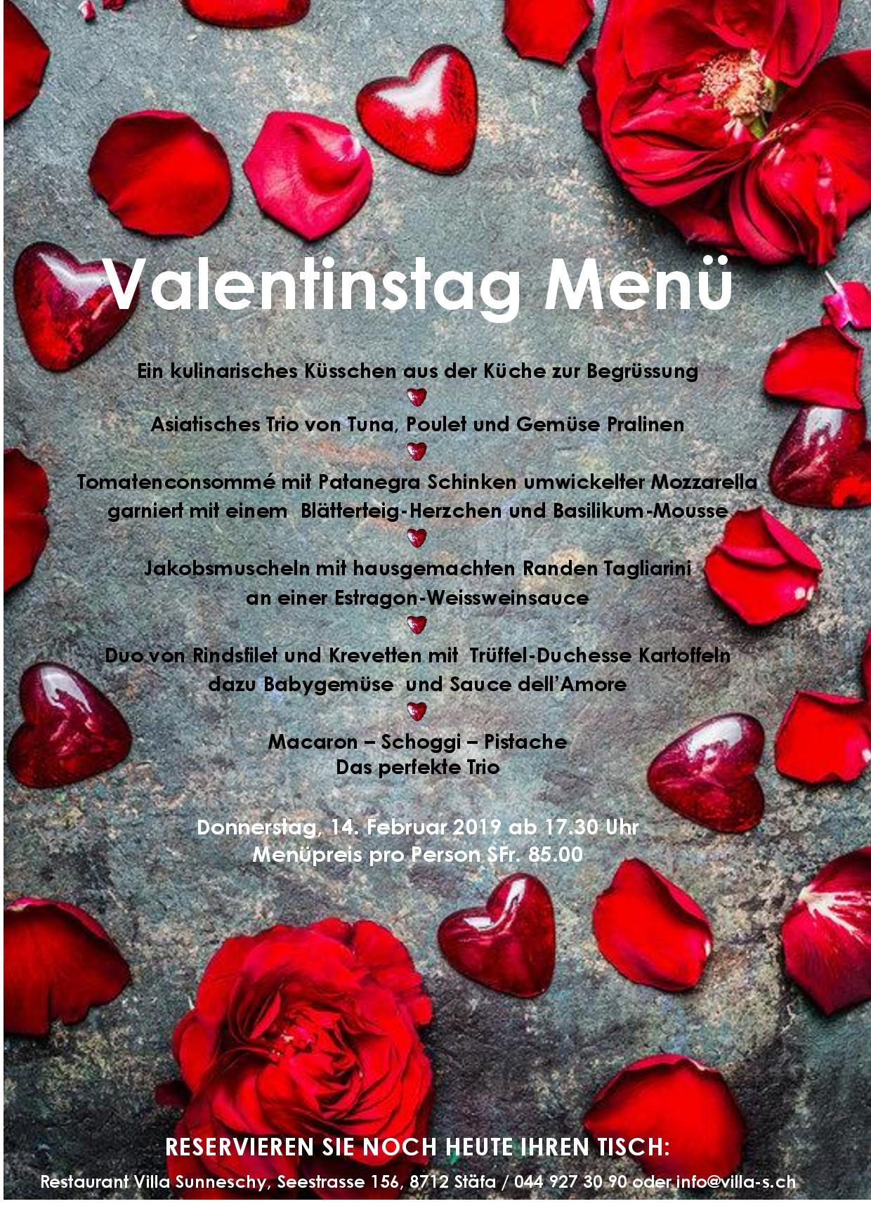 Valentinstag - Donnerstag, 14.02.2019