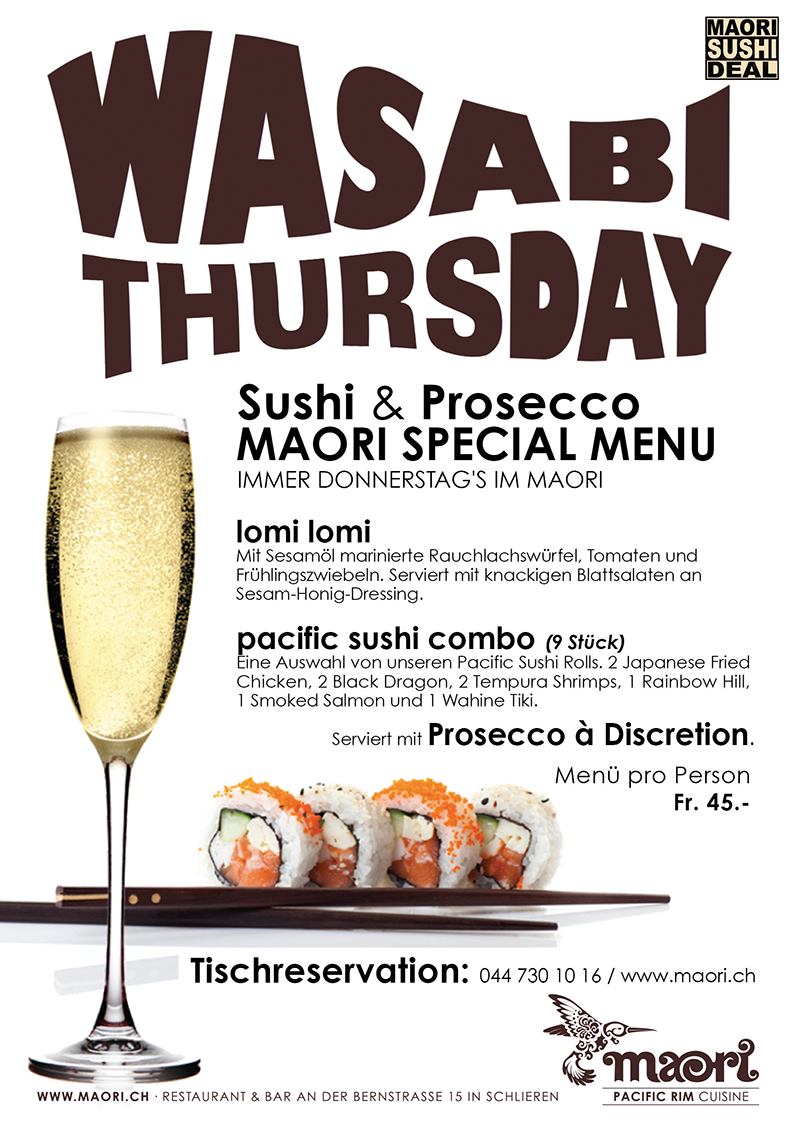 Wasabi Thursday