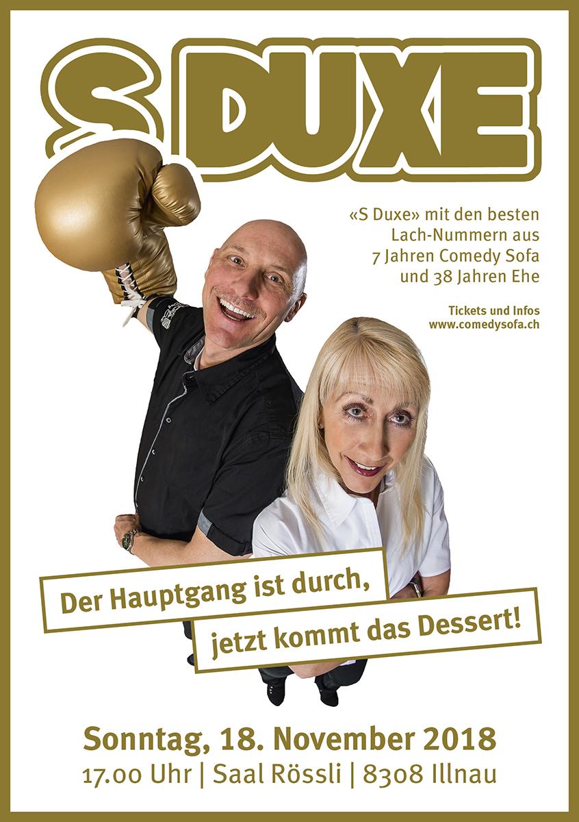 """S DUXE"" Comedy Sofa im Restaurant Rössli Illnau"