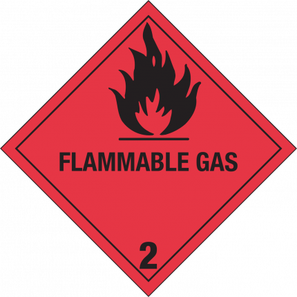 2.1, FLAMMABLE GAS, 250x250mm