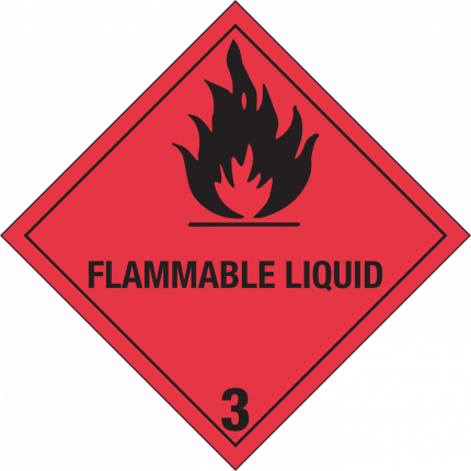 3, FLAMMABLE LIQUID, 250x250mm