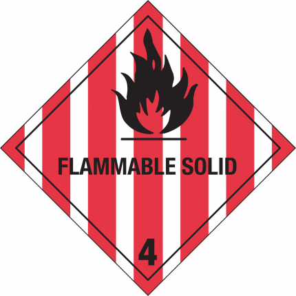4.1, FLAMMABLE SOLID, 250x250mm