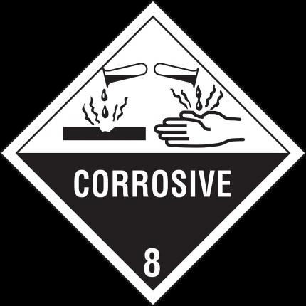 8, CORROSIVE, 250x250mm