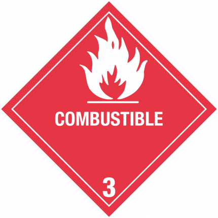 USA - COMBUSTIBLE, 250x250mm