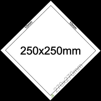 Placard Standard - 250x250mm