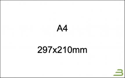 DIN A4, 297x210mm