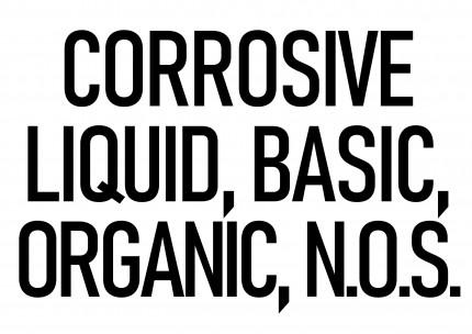 DIN A3 - CORROSIVE LIQUID, BASIC, ORGANIC, N.O.S., 420x277mm