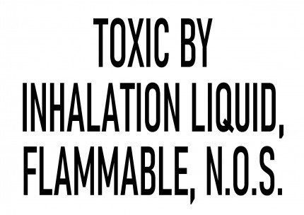 DIN A3 - TOXIC BY INHALATION LIQUID, FLAMMABLE, N.O.S., 420x277mm